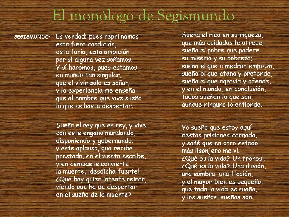 El monólogo de Segismundo