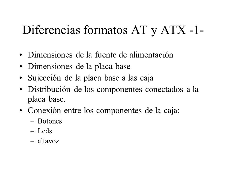 Diferencias formatos AT y ATX -1-