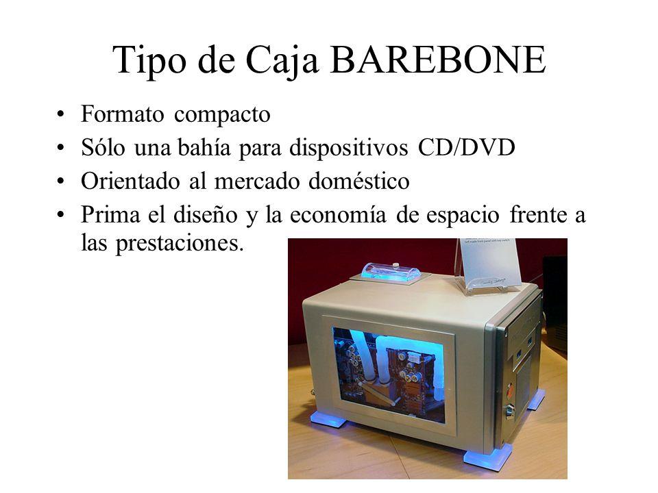 Tipo de Caja BAREBONE Formato compacto