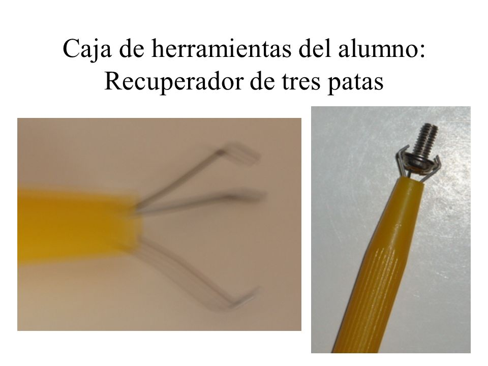 Caja de herramientas del alumno: Recuperador de tres patas