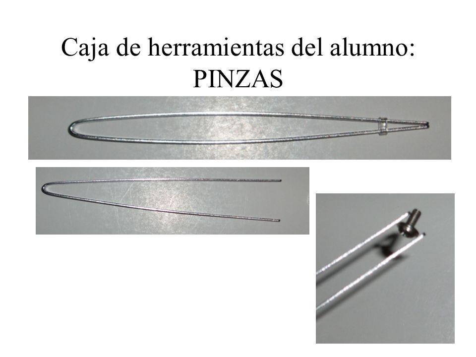 Caja de herramientas del alumno: PINZAS