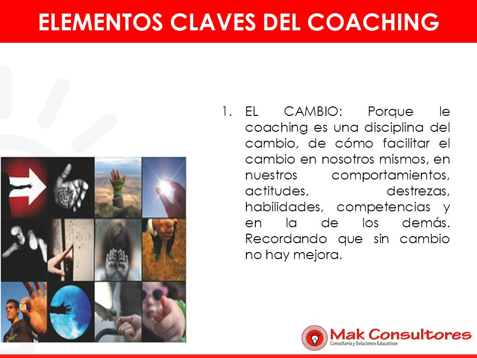 ELEMENTOS CLAVES DEL COACHING
