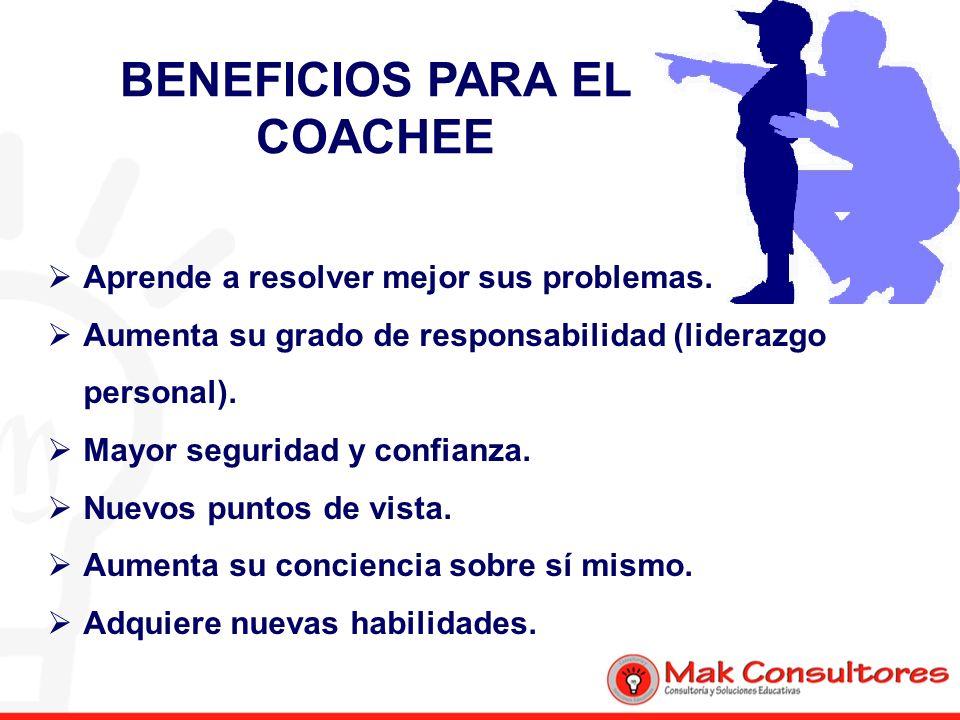 BENEFICIOS PARA EL COACHEE