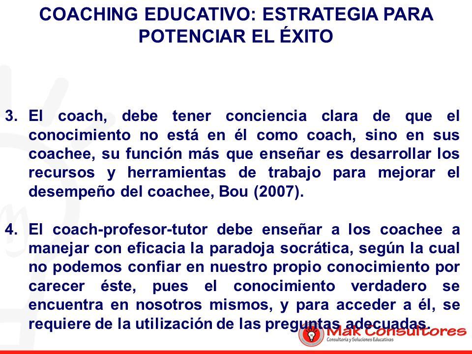 COACHING EDUCATIVO: ESTRATEGIA PARA POTENCIAR EL ÉXITO