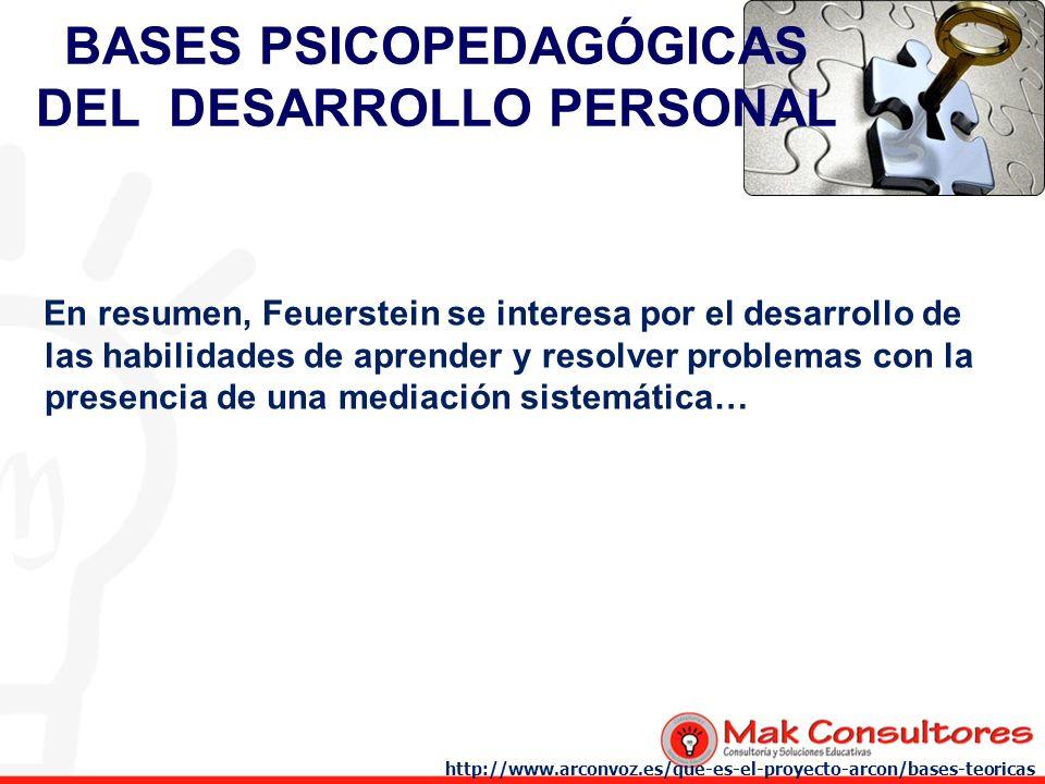 BASES PSICOPEDAGÓGICAS DEL DESARROLLO PERSONAL