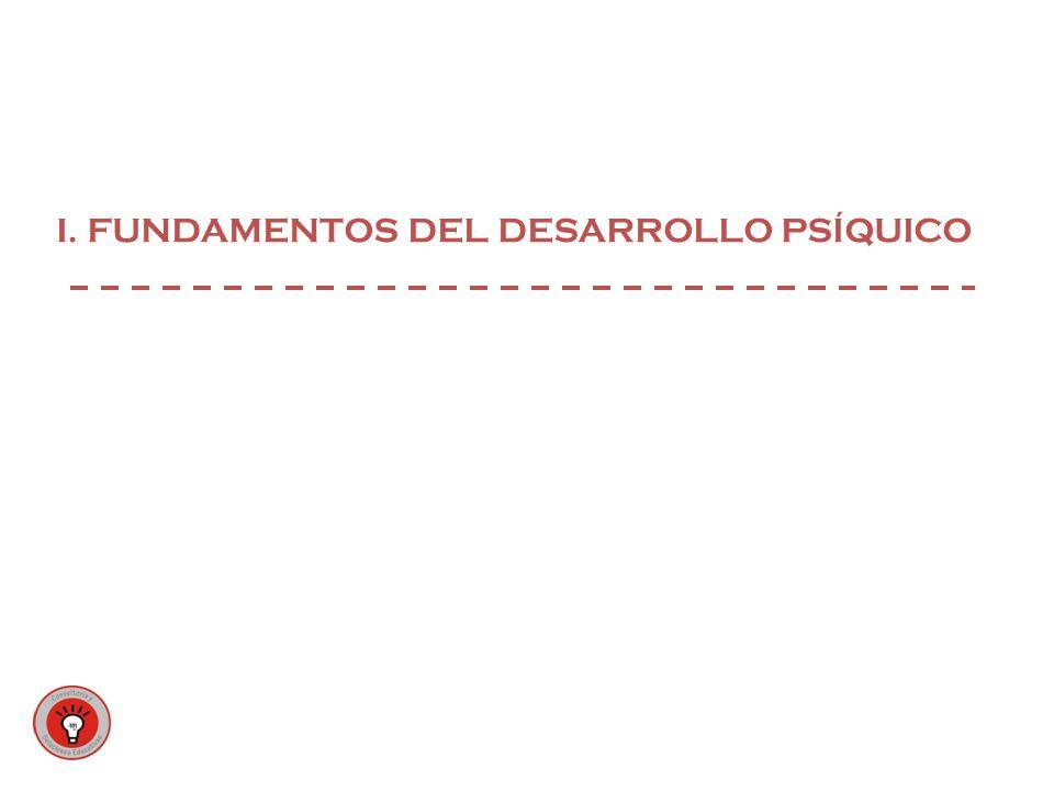 I. FUNDAMENTOS DEL DESARROLLO PSÍQUICO