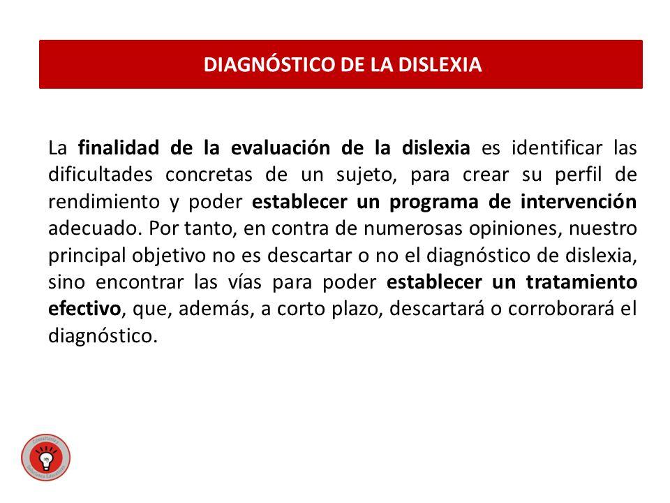 DIAGNÓSTICO DE LA DISLEXIA