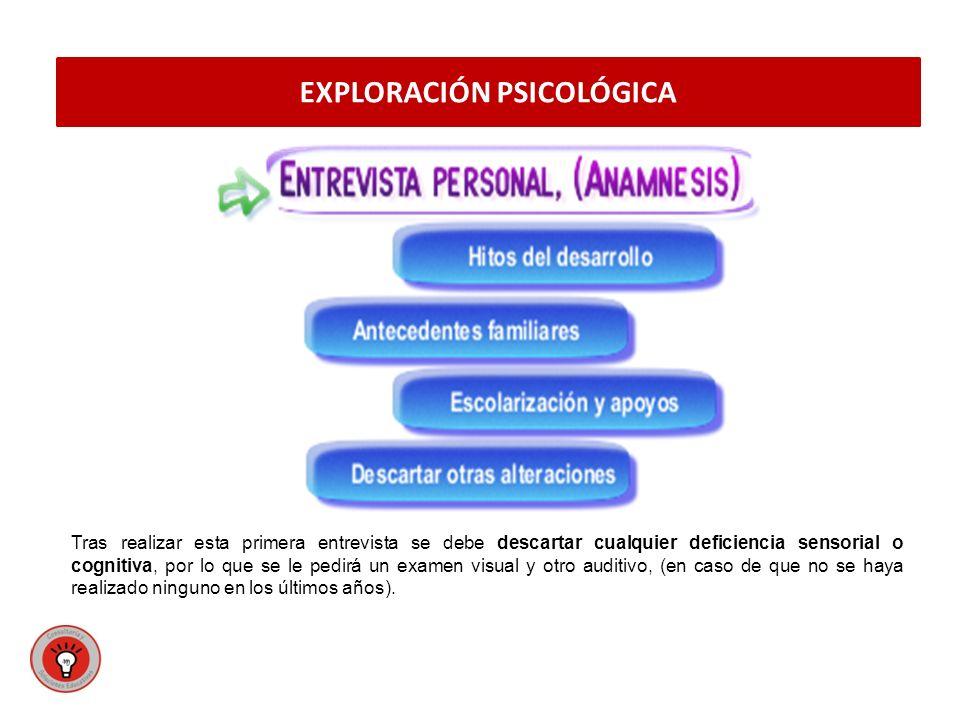 EXPLORACIÓN PSICOLÓGICA