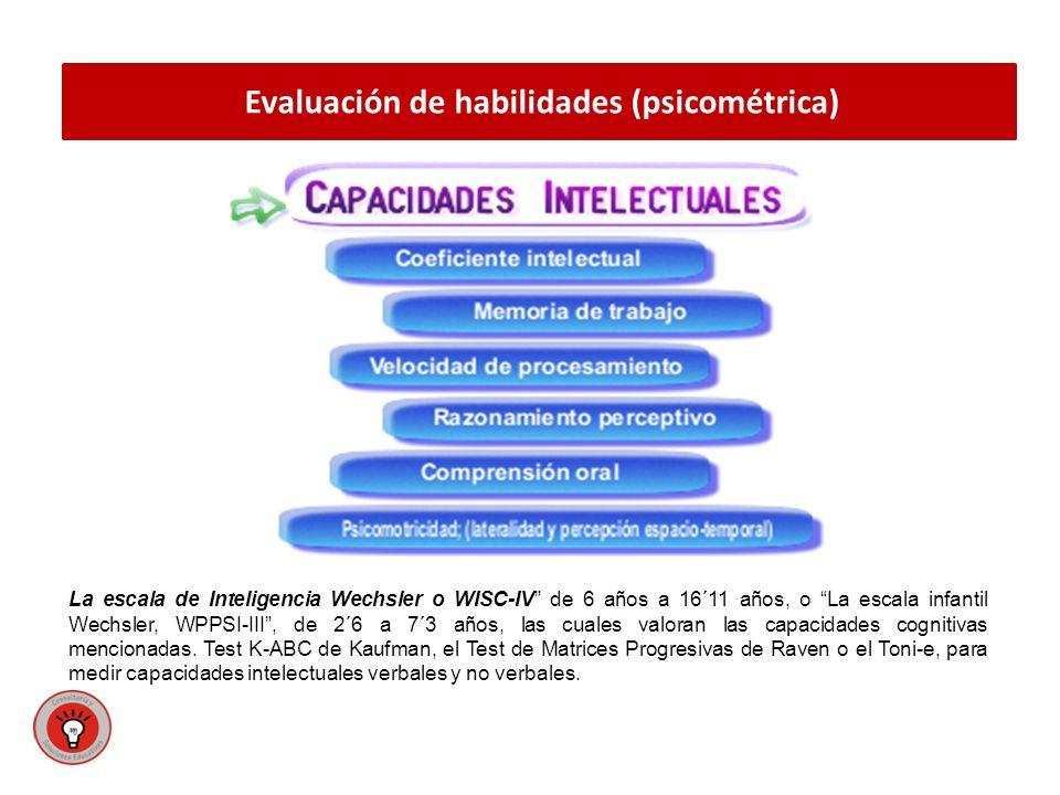 Evaluación de habilidades (psicométrica)