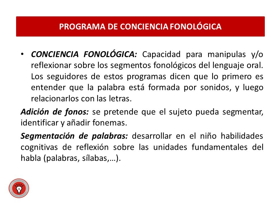 PROGRAMA DE CONCIENCIA FONOLÓGICA