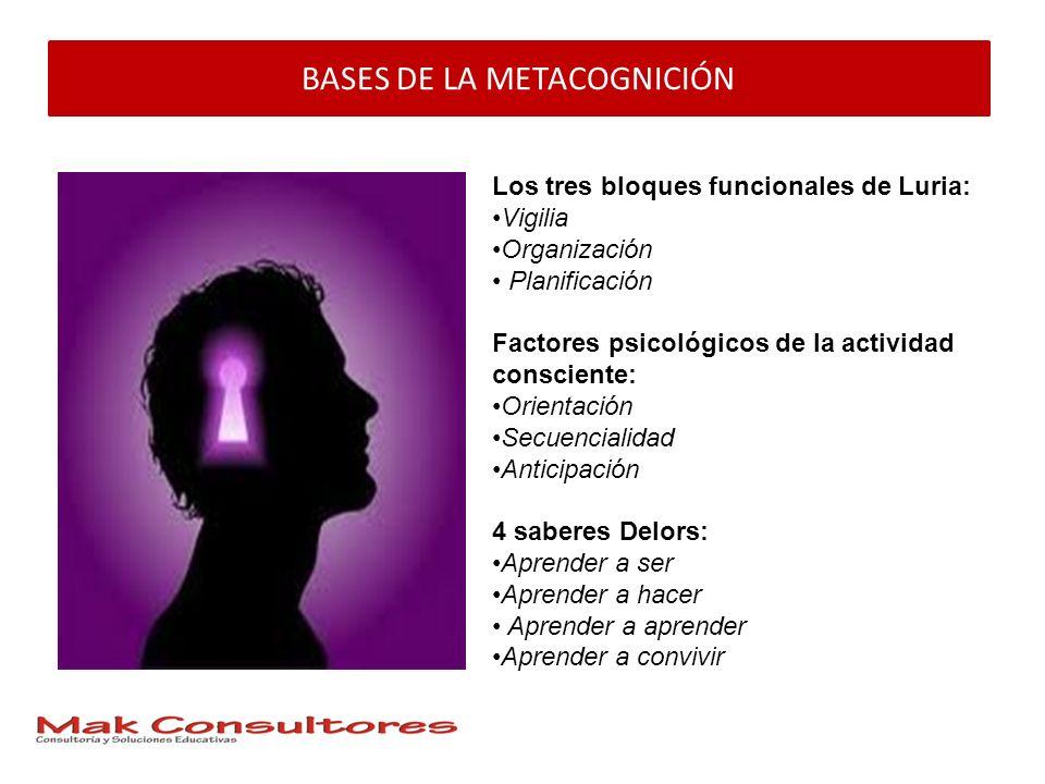BASES DE LA METACOGNICIÓN