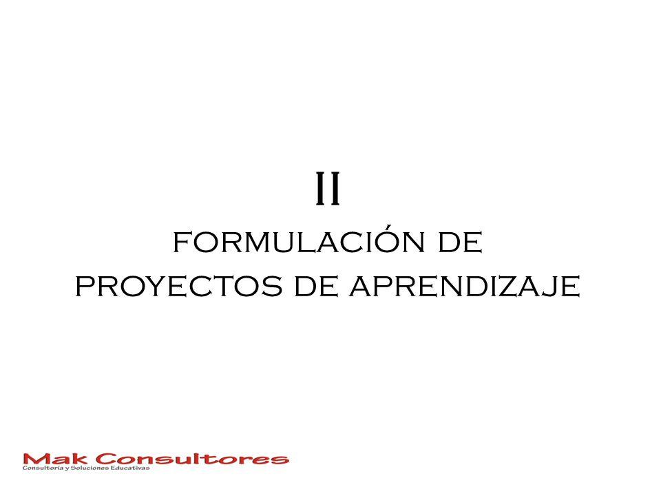 II formulación de proyectos de aprendizaje