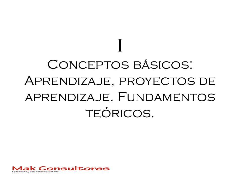 I Conceptos básicos: Aprendizaje, proyectos de aprendizaje