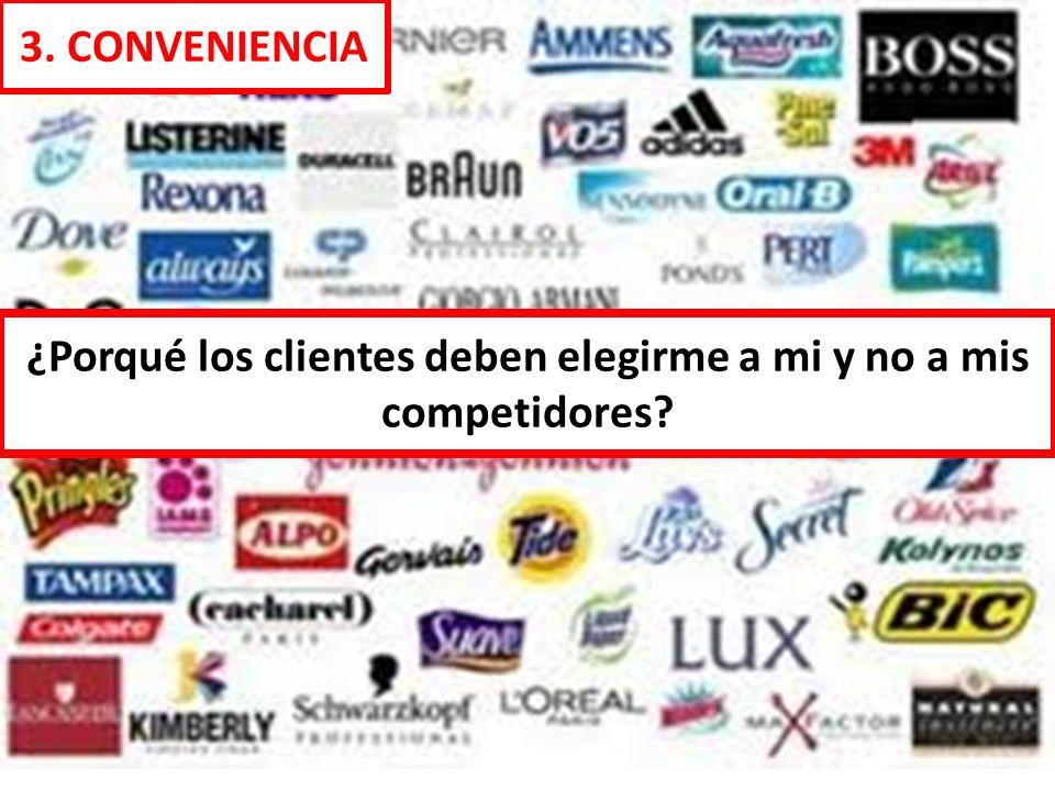 ¿Porqué los clientes deben elegirme a mi y no a mis competidores