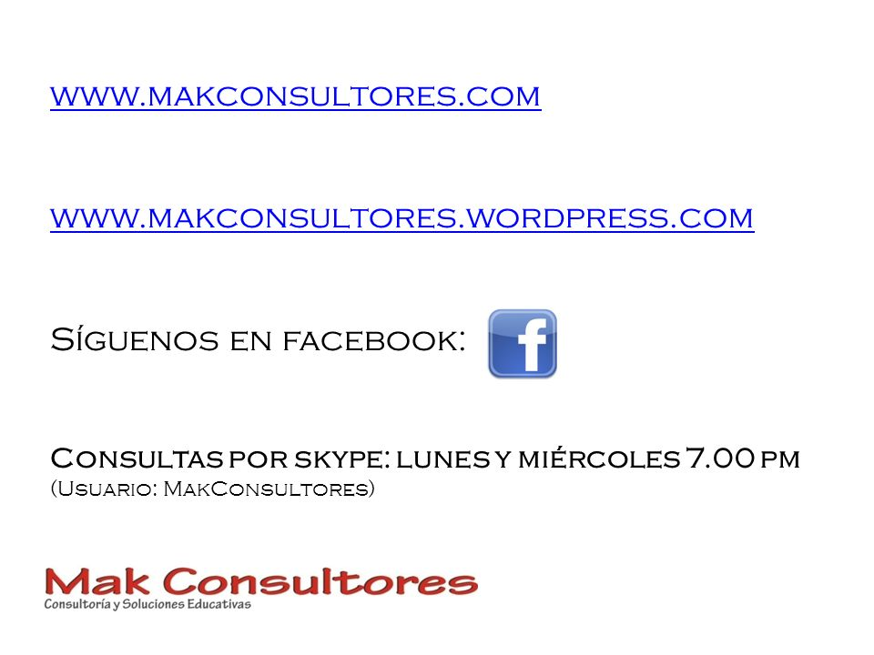 www.makconsultores.com www.makconsultores.wordpress.com