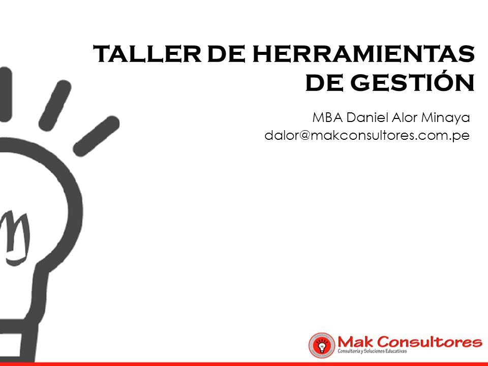 TALLER DE HERRAMIENTAS DE GESTIÓN