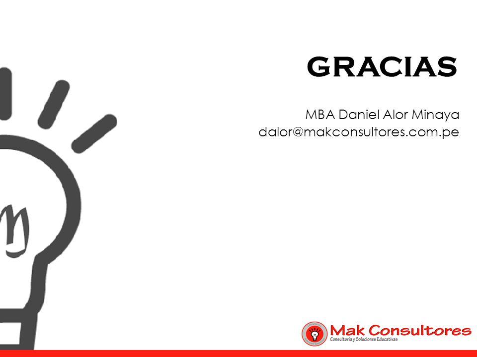 MBA Daniel Alor Minaya dalor@makconsultores.com.pe