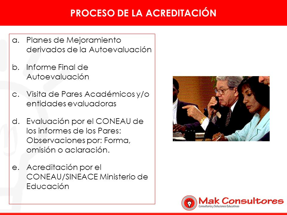PROCESO DE LA ACREDITACIÓN