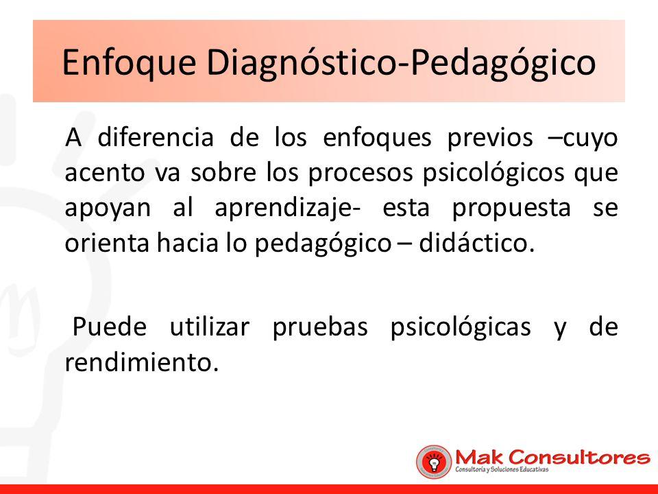 Enfoque Diagnóstico-Pedagógico
