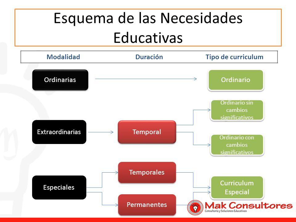 Esquema de las Necesidades Educativas