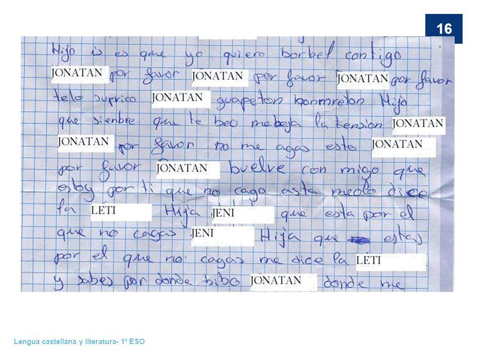 Lengua castellana y literatura- 1º ESO