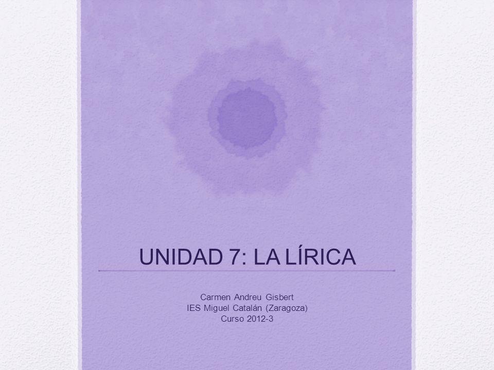 Carmen Andreu Gisbert IES Miguel Catalán (Zaragoza) Curso 2012-3