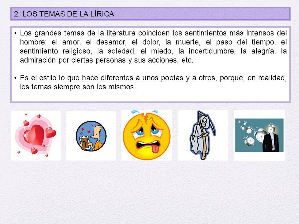 2. LOS TEMAS DE LA LÍRICA