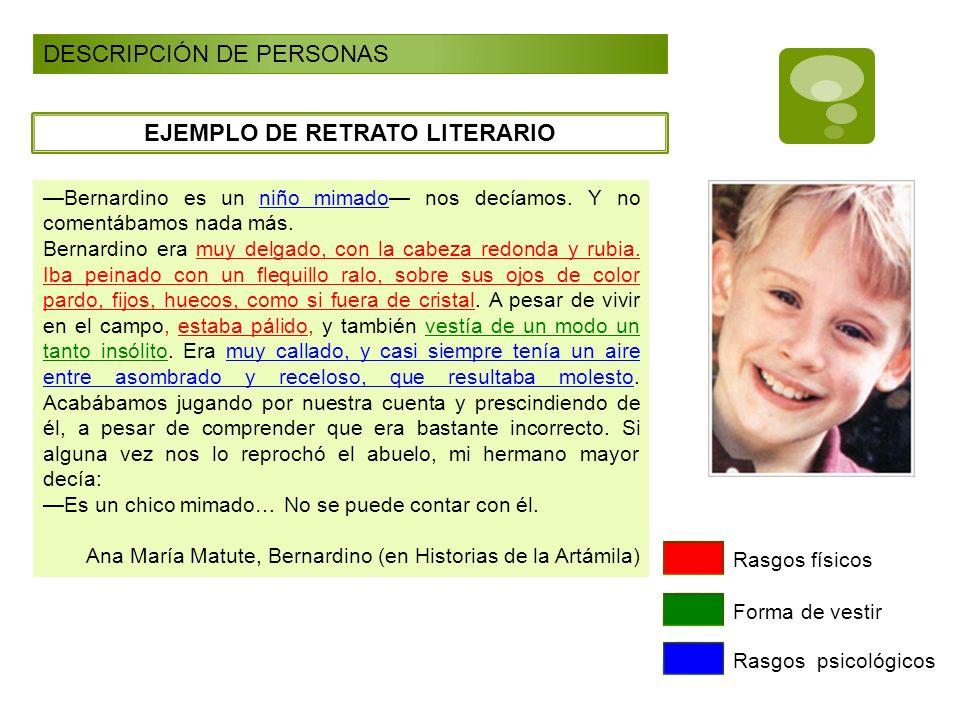 EJEMPLO DE RETRATO LITERARIO