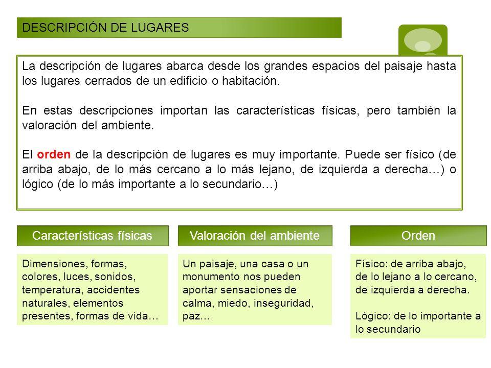DESCRIPCIÓN DE LUGARES