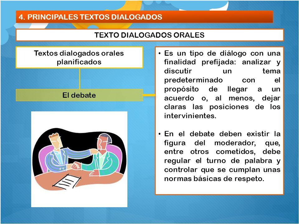 4. PRINCIPALES TEXTOS DIALOGADOS