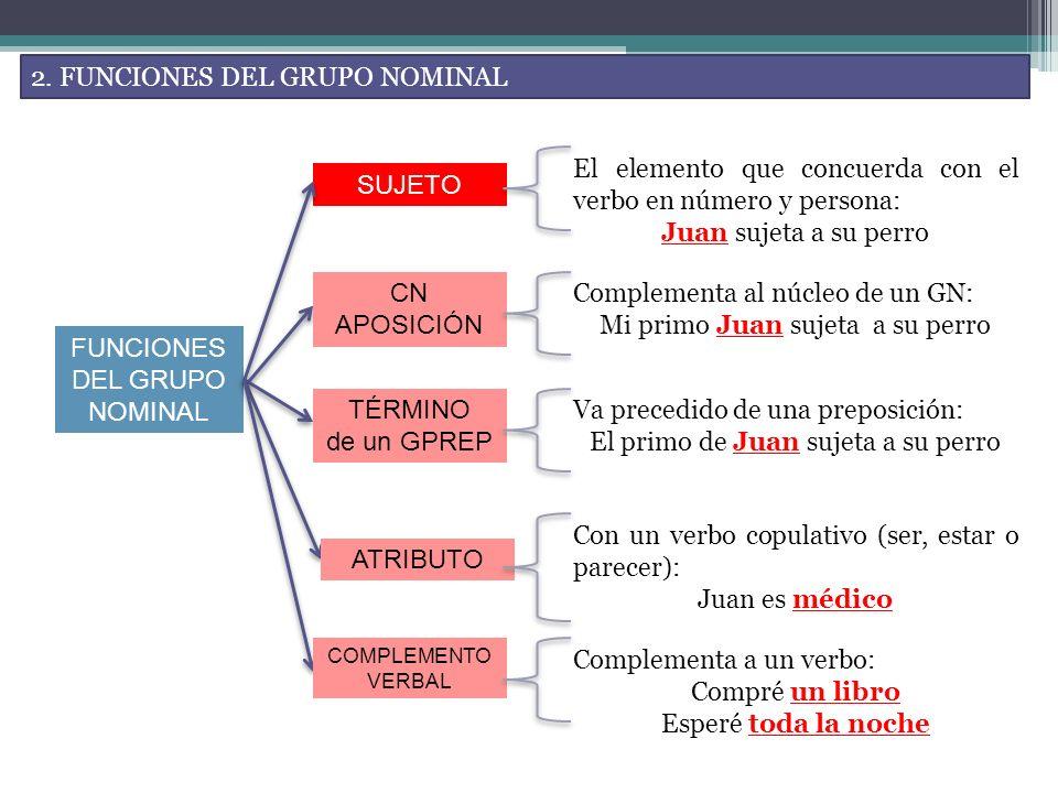 2. FUNCIONES DEL GRUPO NOMINAL