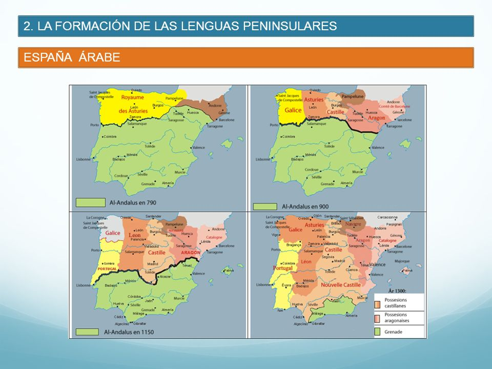 2. LA FORMACIÓN DE LAS LENGUAS PENINSULARES