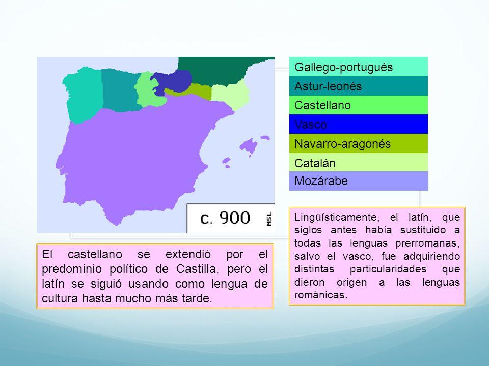 Gallego-portugués Astur-leonés Castellano Vasco Navarro-aragonés