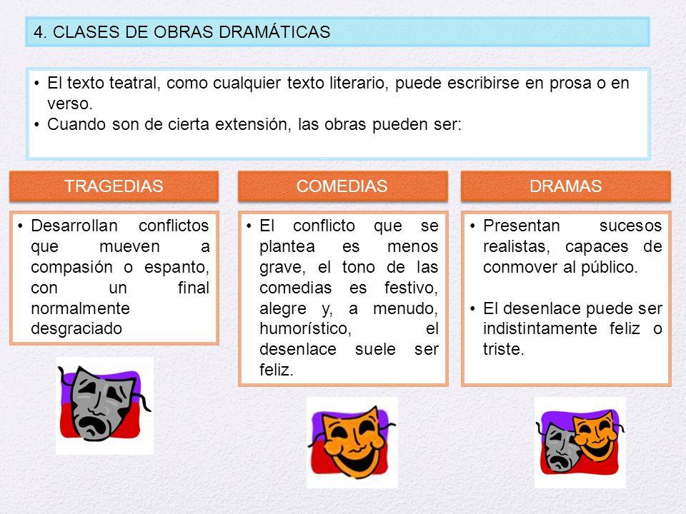 4. CLASES DE OBRAS DRAMÁTICAS