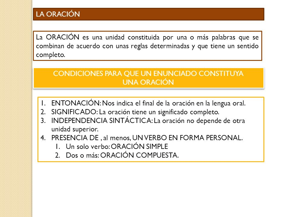 CONDICIONES PARA QUE UN ENUNCIADO CONSTITUYA