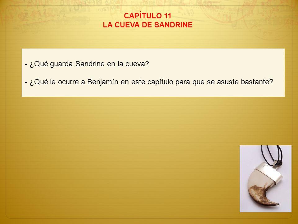 CAPÍTULO 11LA CUEVA DE SANDRINE.- ¿Qué guarda Sandrine en la cueva.