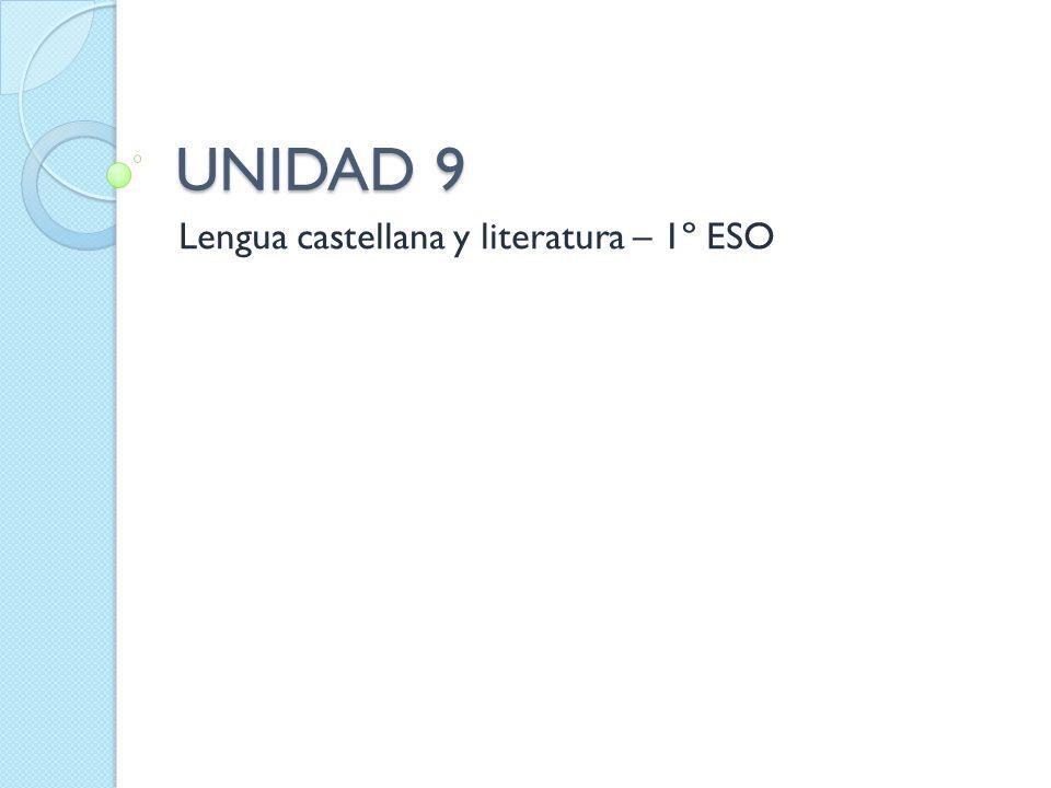 Lengua castellana y literatura – 1º ESO