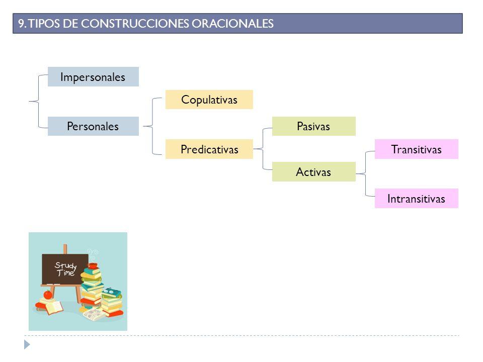 9. TIPOS DE CONSTRUCCIONES ORACIONALES
