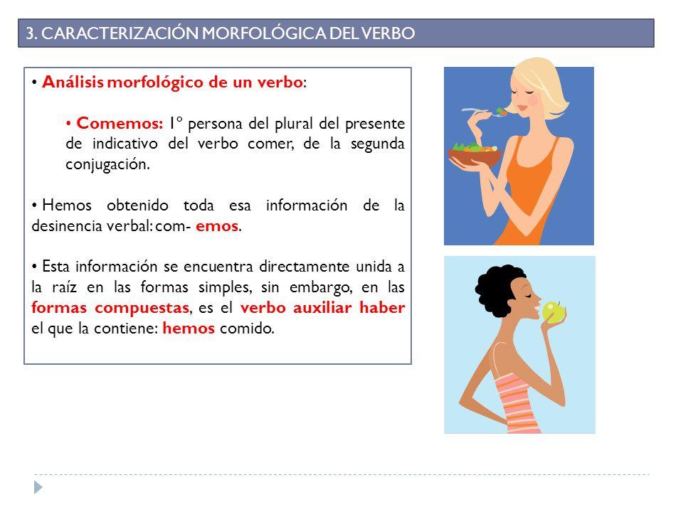3. CARACTERIZACIÓN MORFOLÓGICA DEL VERBO