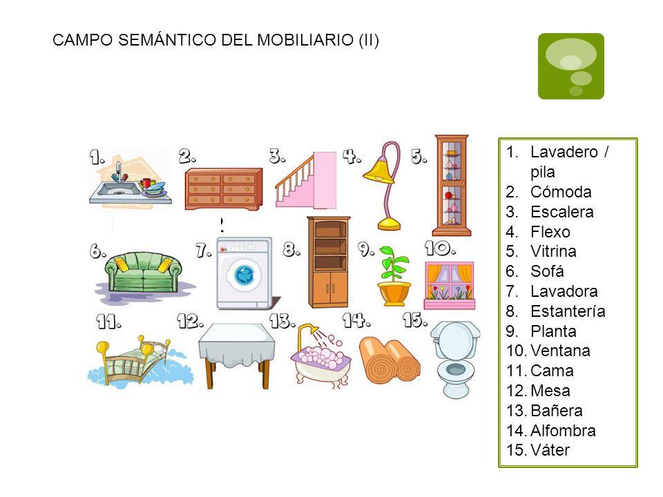 CAMPO SEMÁNTICO DEL MOBILIARIO (II)
