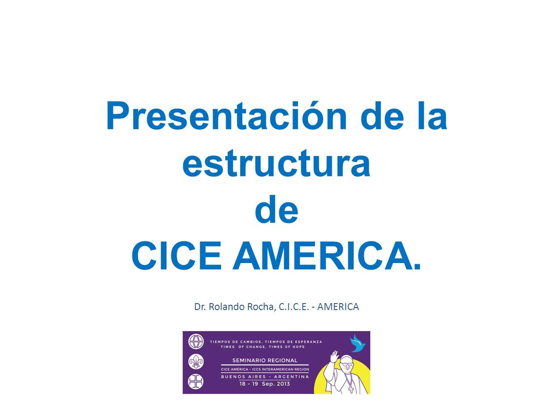 Presentación de la estructura de CICE AMERICA.