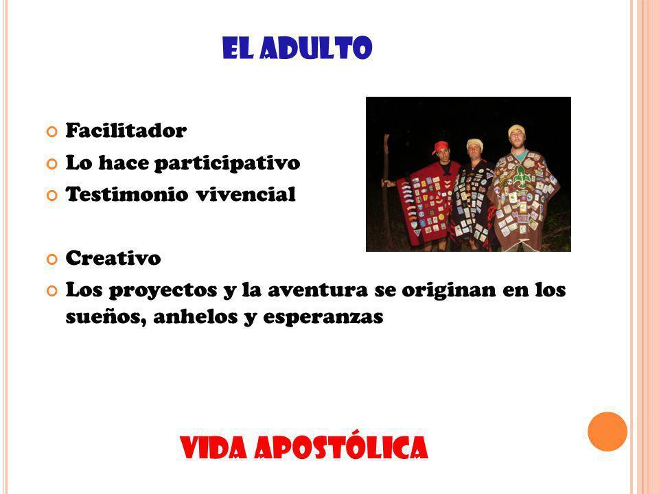 EL ADULTO VIDA APOSTÓLICA Facilitador Lo hace participativo