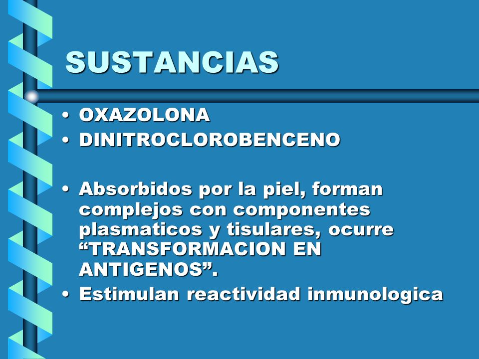 SUSTANCIAS OXAZOLONA DINITROCLOROBENCENO