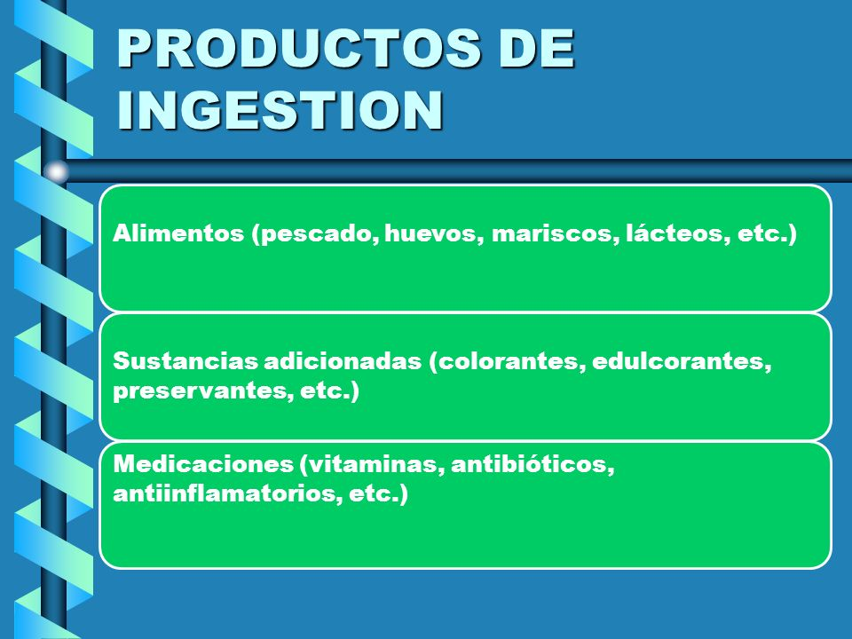 PRODUCTOS DE INGESTION