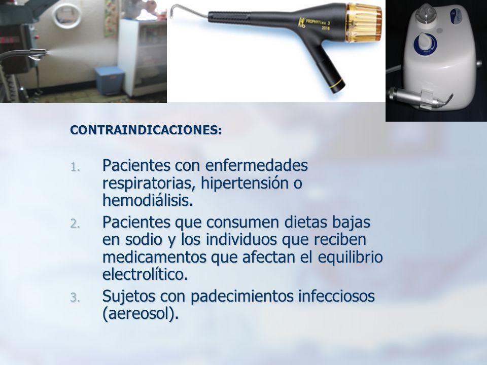 Pacientes con enfermedades respiratorias, hipertensión o hemodiálisis.
