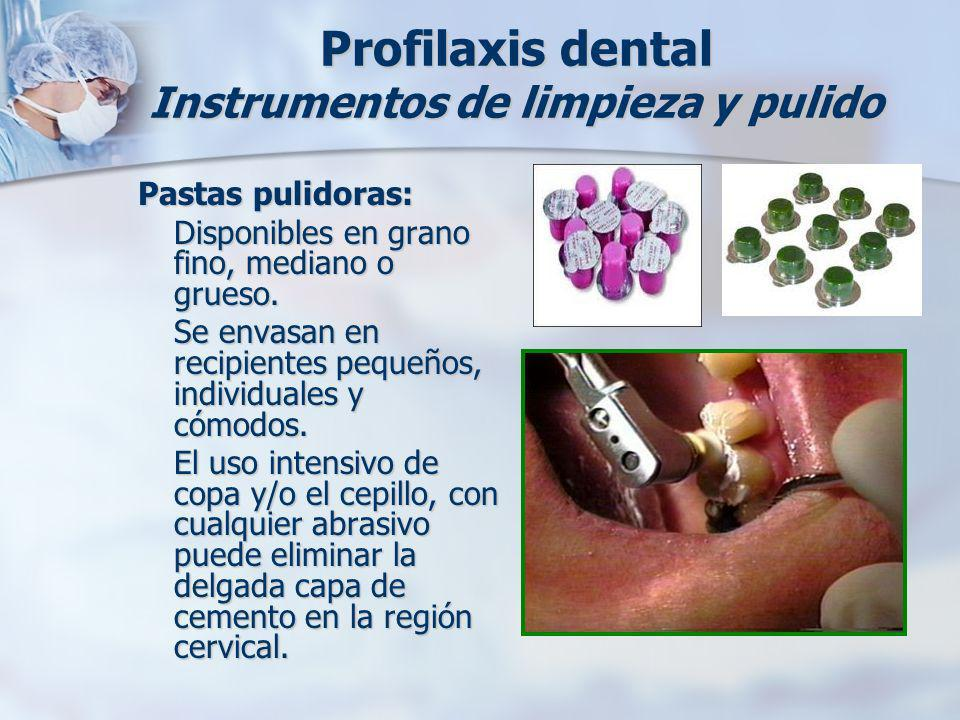Profilaxis dental Instrumentos de limpieza y pulido