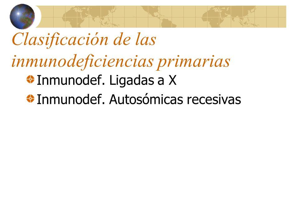 Clasificación de las inmunodeficiencias primarias