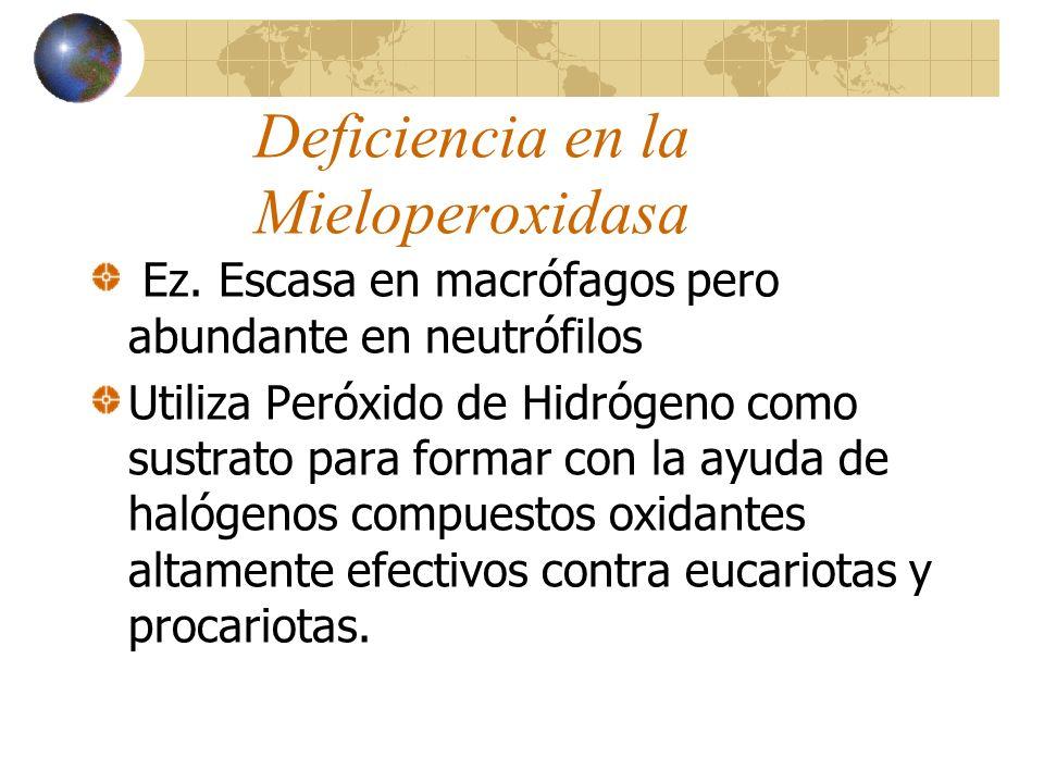 Deficiencia en la Mieloperoxidasa