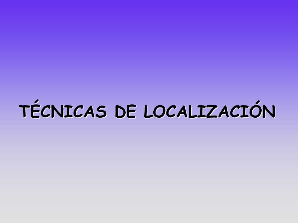 TÉCNICAS DE LOCALIZACIÓN