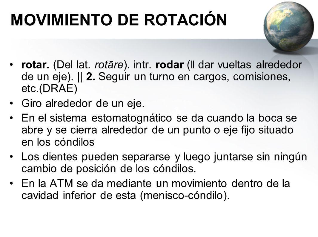 MOVIMIENTO DE ROTACIÓN
